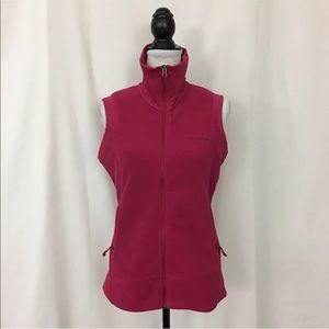 Columbia Fleece Vest Women's M Plush Zip Up Jacket
